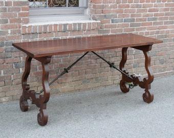 Solid bois bureau en chêne table bureau salle à manger