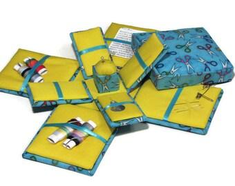 Etui Sewing Kit Needlework Box Colorful Scissors