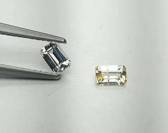 2 Natural yellow Sapphire 0.62ct