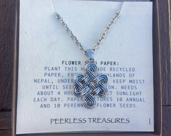 Endless Knot Necklace - Eternal Knot Necklace - Spiritual Jewelry - Meditation Necklace - Stainless Steel Chain - Eternal Knot - Endless