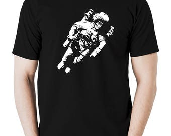 Monkey in a space suit t shirt