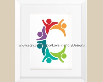 Clip Art to Print or Web. Letter C is for Children's Name, Concept for a Children Nursery, Son Name, Daughter Name, Initial, Boy Girl Name