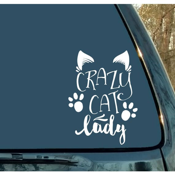 Crazy cat lady decal cat decal cat sticker car decal