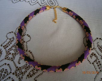 Crocheted, reversible necklace!