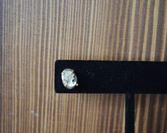 14kt Gold Vintage Cameo Stud Earrings
