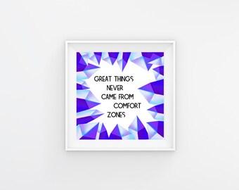 Digital print Instant download Inspirational quote wall decor art
