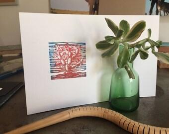 Rust & Dark Blue Mini Pear Cactus