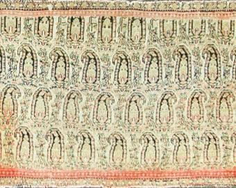 "22"" x 41"" Elegant Antique Persian Senneh Oriental Rug, Bag, C-1880 #16217"
