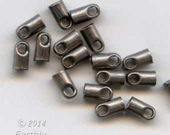 Gunmetal end caps. 6x3mm. Package of 20. b9-2340(e)