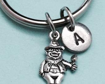 Leprechaun keychain, leprechaun charm, holiday keychain, personalized keychain, initial keychain, customized keychain, monogram