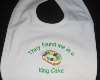 They Found Me in a King Cake Bib