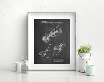 Stacking Measuring Cups Patent Poster, Kitchen Wall Art, Culinary Art, Bakery Decor, Restaurant Decor, PP0484