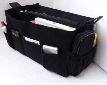 Extra Large Purse organizer for Louis Vuitton Neverfull GM - Bag organizer insert in Rich BLACK