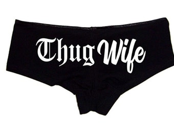 Bridal Panties - Thug Wife Sexy Wedding Underwear Wifey Women's Underwear