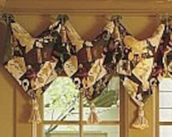 Custom pointed Valance using your fabric