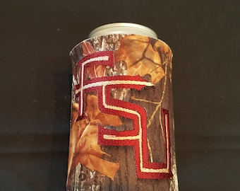 Florida State Seminoles Custom Camo Can Insulated Beverage Cooler