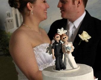 Custom Bride and Groom Wedding Cake Topper, Bride and groom cake topper, personalized cake topper, Mr and Mrs cake topper