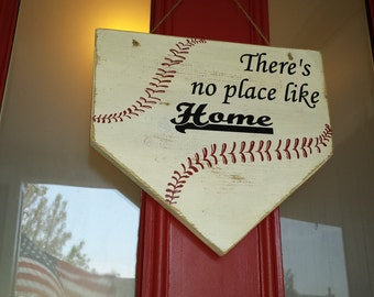 Home Plate Door Sign|Personalized Baseball Coach Gift|Home Plate Sign|Outdoor Home Plate Sign|Baseball Fan Gift|Baseball Porch Sign
