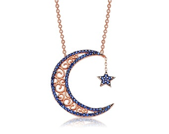 Silver Moon Star Pendant - IJ1-1392