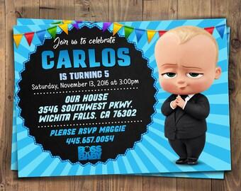 Boss Baby Einladung Boss Baby Geburtstag Boss Baby Boss
