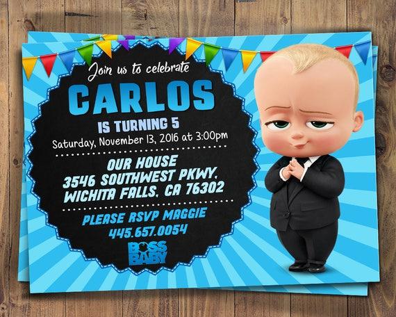 Boss Baby Invites Printables Printable Invite