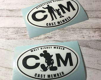 Disney Cast Member decal inspired by AP Magnet | Annual Pass | Annual Passholder
