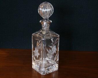 Crystal Decanter by Royal Crystal Rock (RCR)