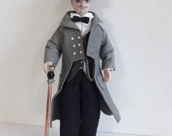 George Rothfellow, OOAK 1:12 scale steampunk gentleman
