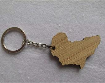 Wooden Keychain - Africa