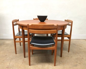 Set of 4 Kofod Larsen G Plan Teak Dining Chairs & Table. Retro Mid Century.