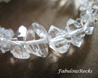 25-100 pcs, Herkimer Diamond Quartz Crystals Nuggets Beads / 5-7 mm, Double Terminated, Luxe AAA, april birthstone, xs solo
