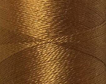 Sand gold, Silk Machine Threads, 100% Mulberry Silk, Plain Dyed, Luxury Silk Threads, Spun Silk, Solid Colours, 300m, 325yds