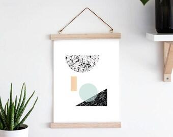 Ink Splatter Print 'Geometry'