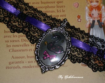 Necklace lace Swan Lake