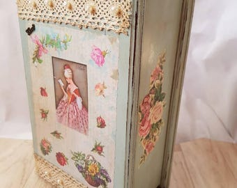 Romantic decoupage box, Csja of Secrets, Box wishes, jeweler, birthday gift