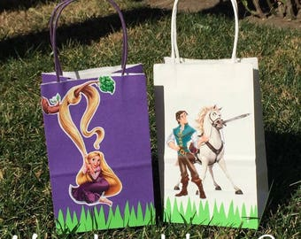 Tangled  Rapunzel treat bags favor  set of 12 pieces, for party.
