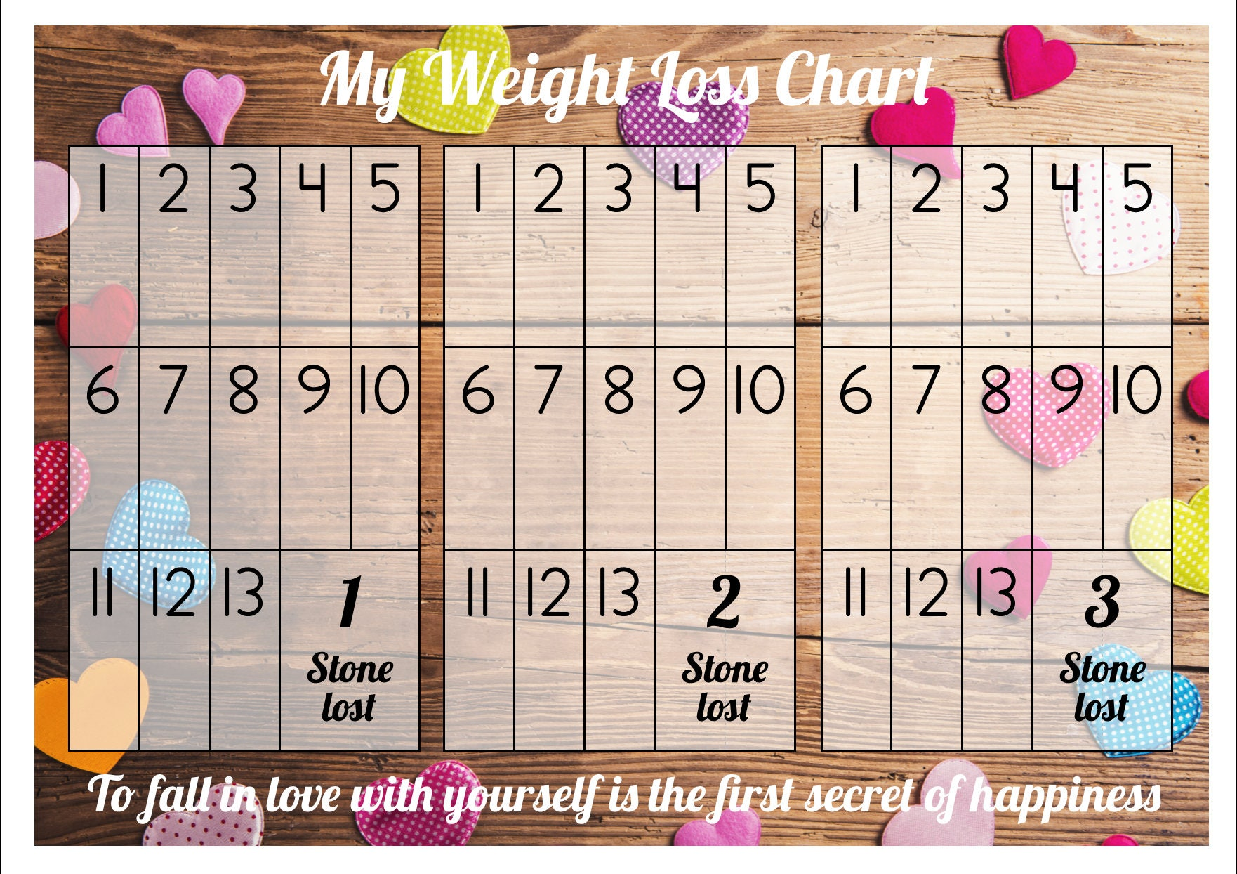 Weight loss chart tracker 3 stone comes with star description weight loss chart tracker nvjuhfo Images