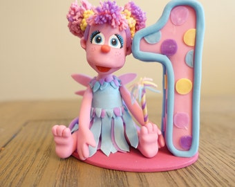 Abby Cadabby Cake Topper, (can be personalized), Sesame Street Cake Topper, Elmo Doll