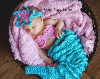 Newborn Mermaid Set Photo Prop