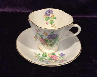 Clarence Vintage Teacup and Saucer