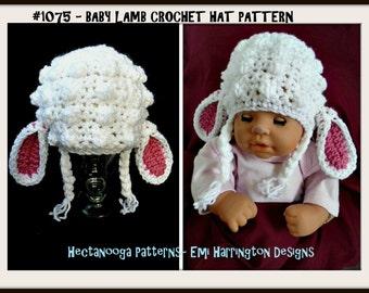 crochet pattern hat, Baby Lamb Hat CROCHET PATTERN, Newborn to 5 years,  crochet for baby, hat crochet pattern, baby hat