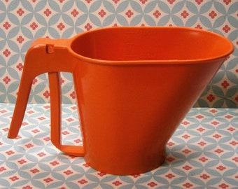 Vintage RUBBERMAID 750 ml oranje kunststof meel zeef