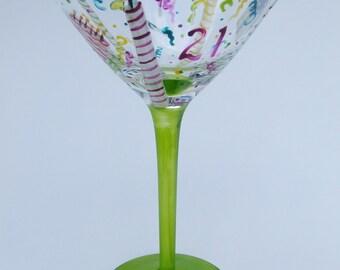 Hand painted birthday Martini
