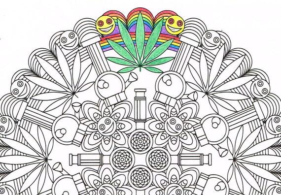 Mandala Coloring Page Marijuandala