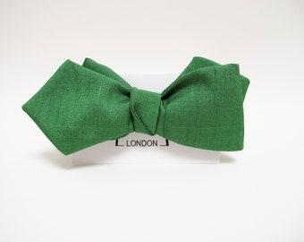 Emerald Green Silk Taffeta bow tie