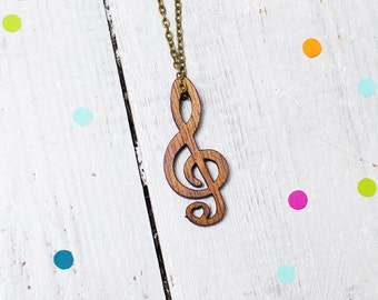 Treble Clef Necklace | Music Lover | Music Jewellery