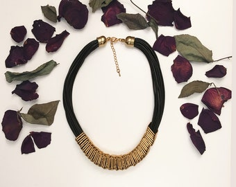 Gold Square Statement Necklace