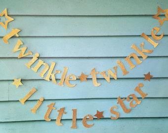 Twinkle Twinkle Little Star Garland/Baby Shower  garland,twinkle twinkle banner/baby shower decor/Twinkle twinkle little star banner/twinkle