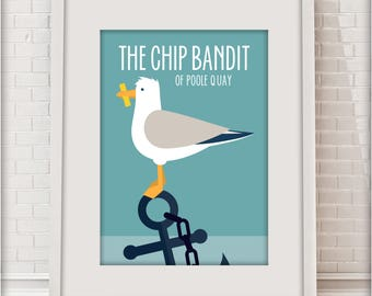 The Chip Bandit of Poole Quay, Love Dorset collection