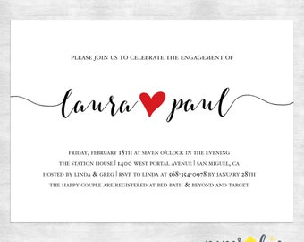 Wedding Shower Invitations /  Engagement shower Invitation / Elegant couples shower Invitation / printable invitations / printed invitations